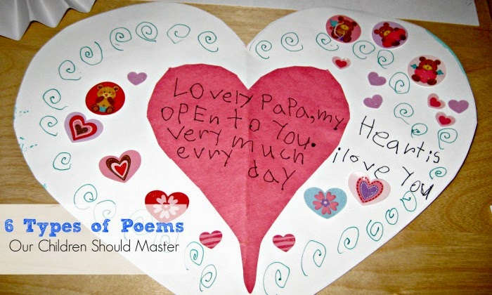 Poetry for Kids - Different forms of poems with free graphic organizers