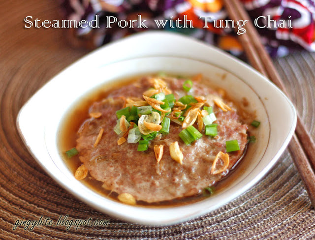 Steamed Pork with Tung Chai 东菜蒸肉饼