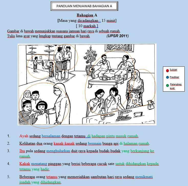Bina ayat Format upsr 2016