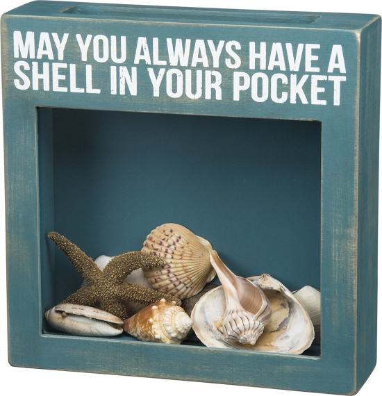 Wood Shell Shadow Box Top Load