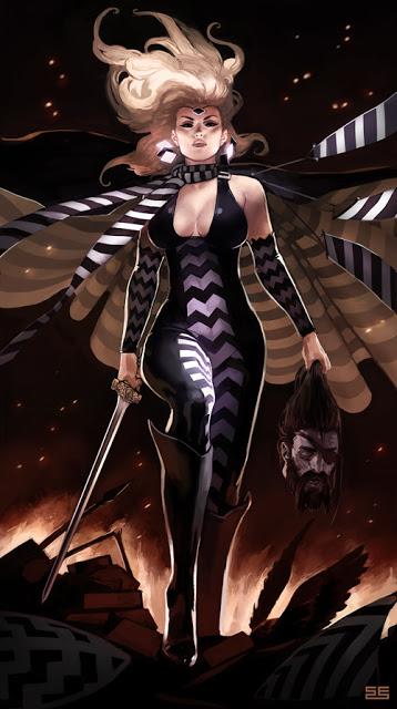 mulheres mitológicas transformadas em pin-ups