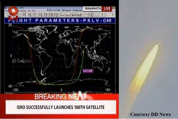 isro-sucessful-launched-1000th-sattelite-pslv-c-40-image