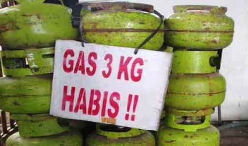 Stok Gas LPG 3 Kg Habis, Di Pasaran Benteng Selayar,