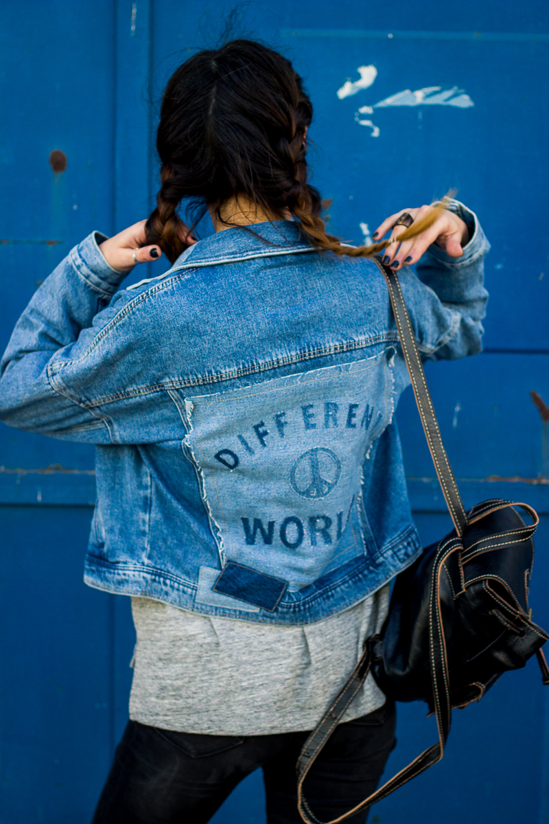 different world zara denim jacket