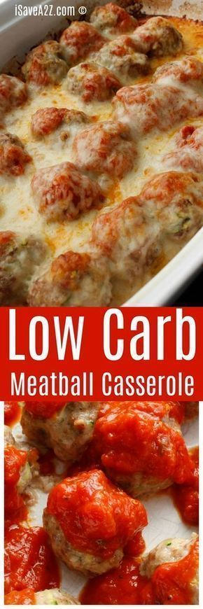 Low Carb Meatball Casserole #LOWCARB #CASSEROLE #MEATBALL #KETO #DINNER