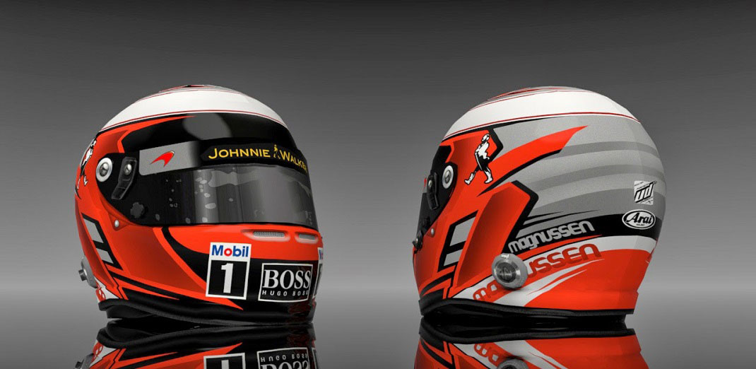 Kevin Magnussen 2014 helmet