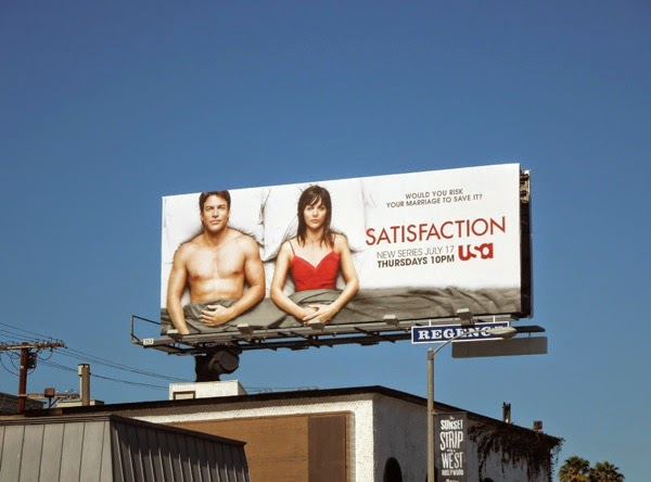 Satisfaction series premiere billboard