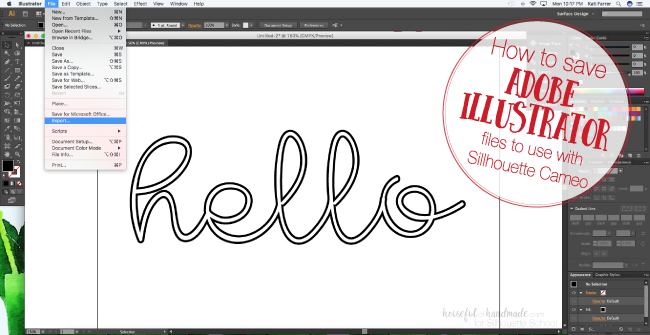 Saving Adobe Illustrator Files For Silhouette Studio Svg And Dxf Silhouette School