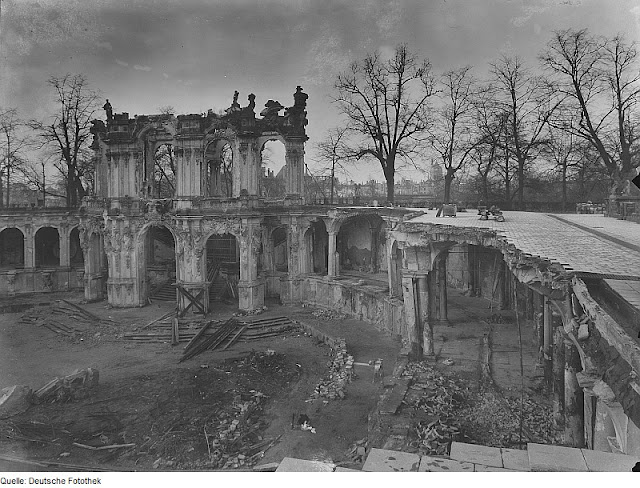 zwinger palace after the war