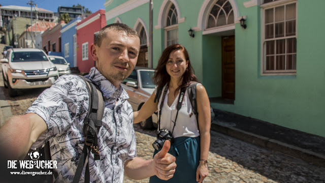Arkadij und Katja im Bo-Kaap Viertel in Kapstadt