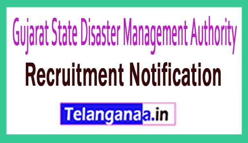 Gujarat State Disaster Management Authority GSDMA Recruitment