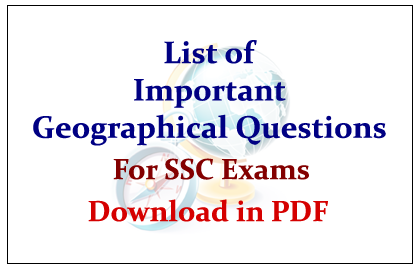 List of Important Geographical Questions