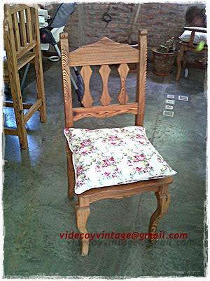 Videcoyvintage deco almohadones sillas pino tea - Almohadones para sillas ...