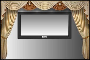 HOME THEATER DECORATIVE CURTAINS  Movie themed bedrooms - home theater design ideas - Hollywood style decor - movie decor -  Film decor - home cinema decor - movie theater decor - Home Theater Curtains - cabinet knobs movie theater