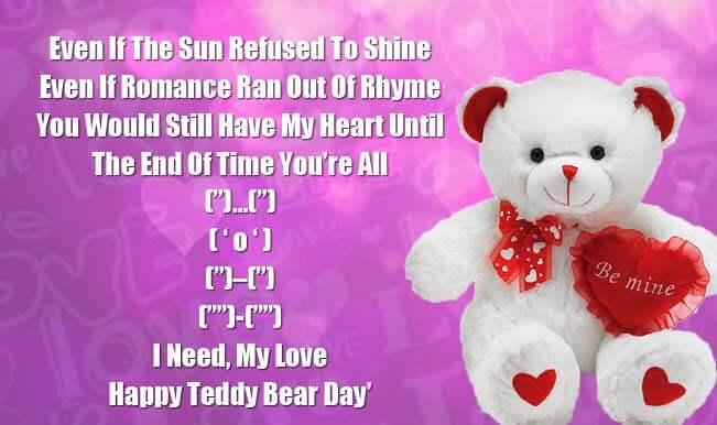 Happy Teddy Day HD Wallpaper