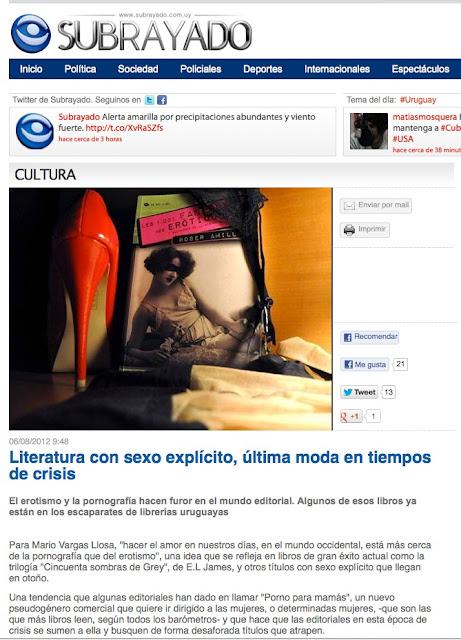 Uruguay | Literatura con sexo explícito, última moda en tiempos de crisis