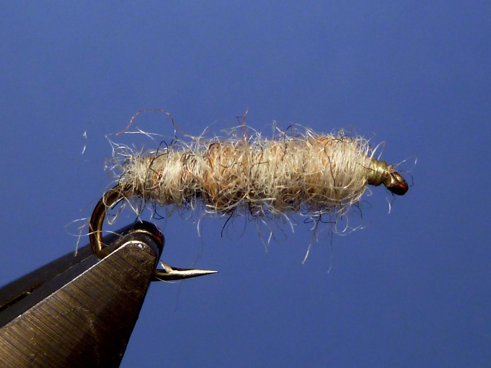 24 per box coloured /& Chamois Worm Fishing Flies Trout Flies size 10
