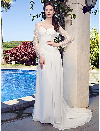 vestidos de novia con manga de encaje