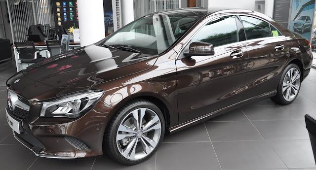 Thân xe Mercedes CLA 200 2018 thiết kế thể thao