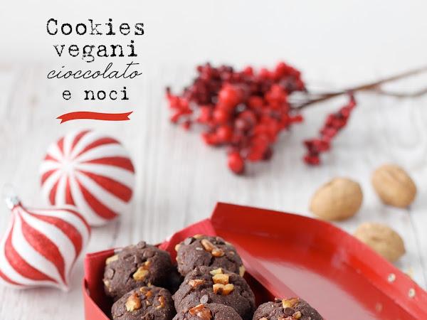 Cookies vegani cioccolato e noci