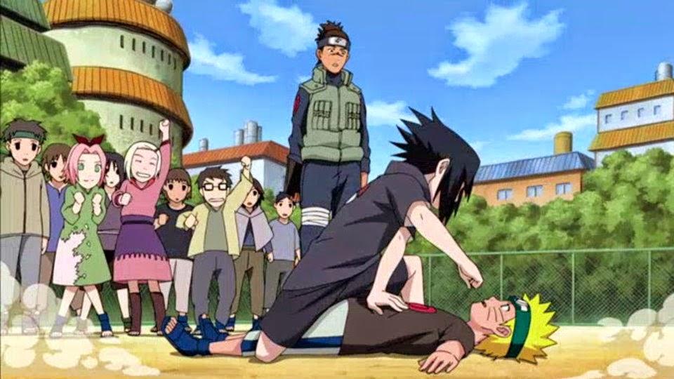 Naruto vs Sasuke niños
