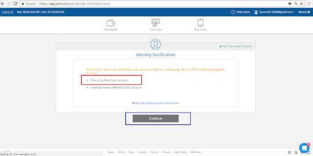 Cara Melakukan Verifikasi KTP dari App.Coins.id