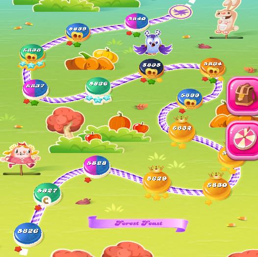 Candy Crush Saga level 5826-5840