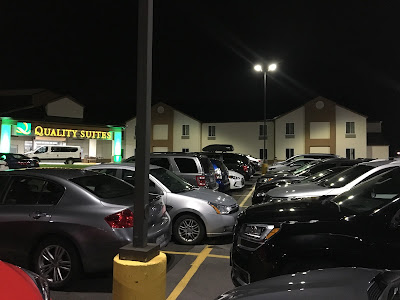 hotel parking lot 5:30am