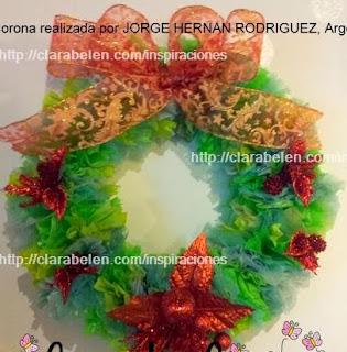 http://clarabelen.com/inspiraciones/3419/reciclar-en-navidad-coronas-realizadas-con-bolsas-de-plastico-por-jorge-hernan/