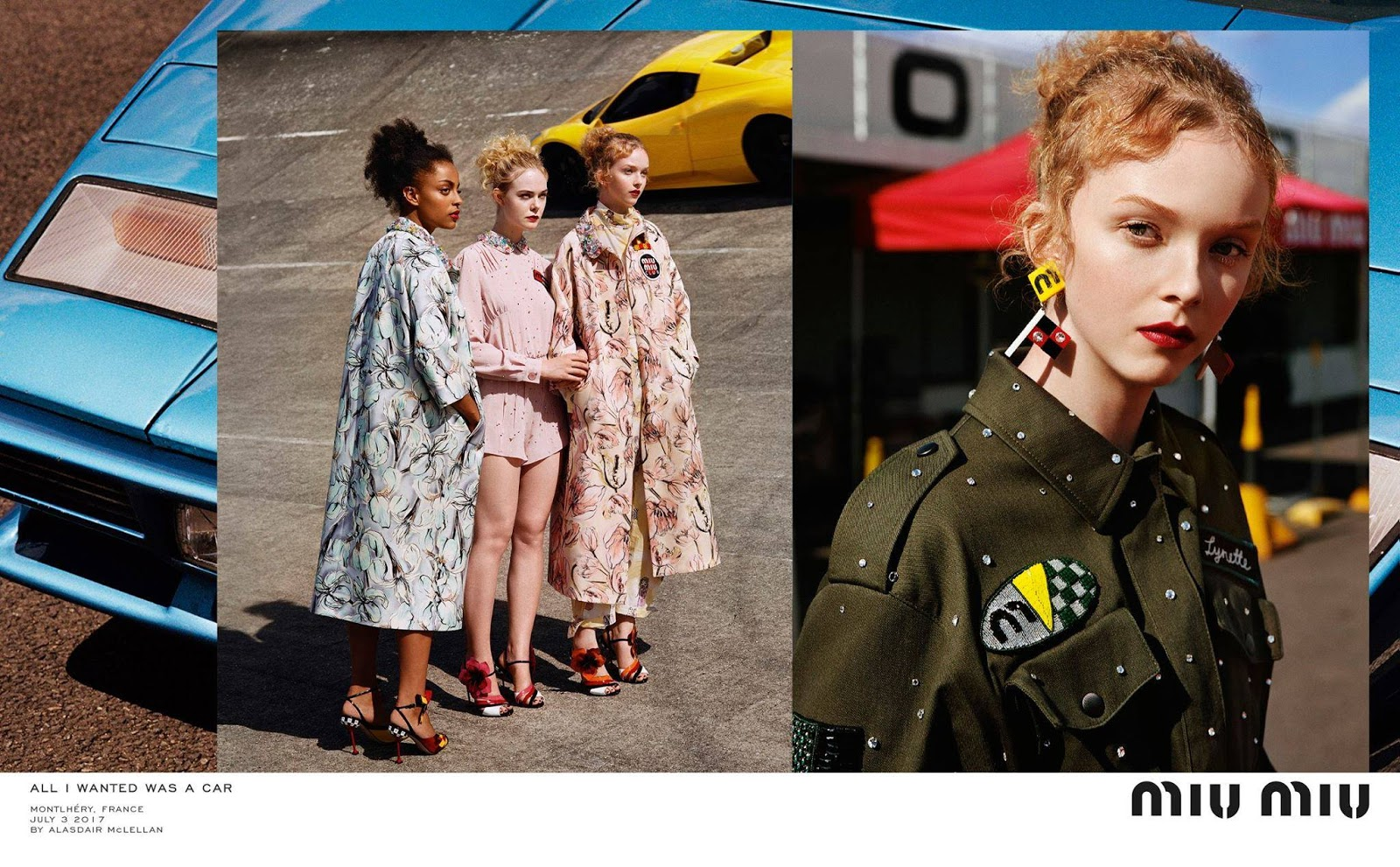 Miu Miu All I wanted was a car… Croisiere 2018 Ads Campaign