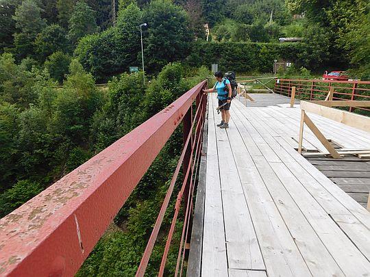 Dawny wiadukt Sowiogórskiej Kolejki Zębatej.
