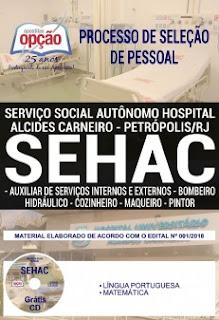 Baixar Apostila Concurso SEHAC 2019 PDF Download