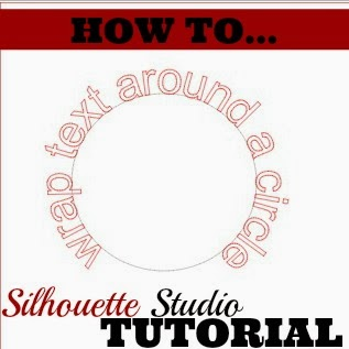 Silhouette tutorial, beginners, text, wrap, circle