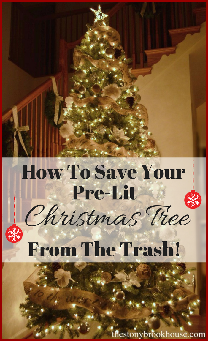 How To Save Your Pre-Lit Christmas Tree From The Trash