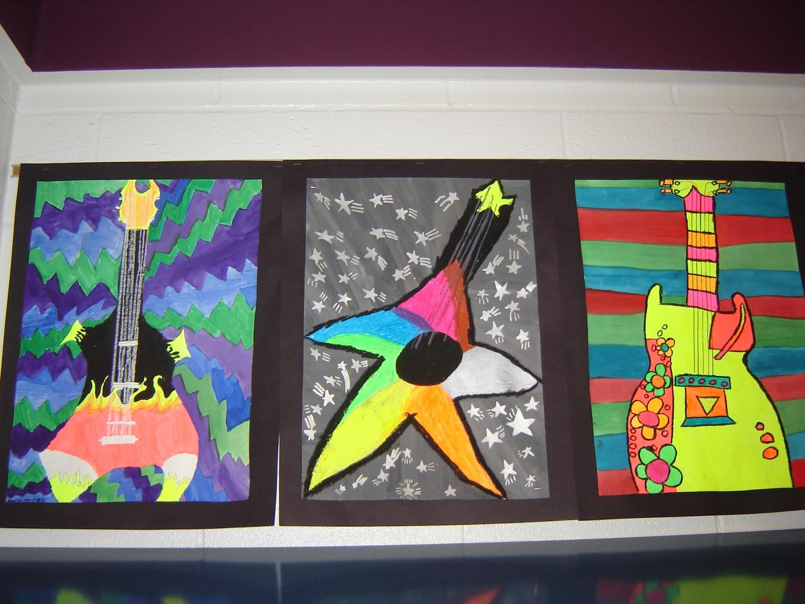 Jamestown Elementary Art Blog 5th Grade Guitars