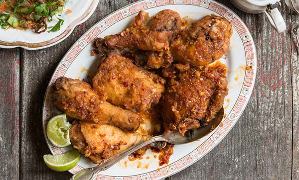 Vietnamese Fried Chicken Thighs with Garlic-Chile Glaze Recipe