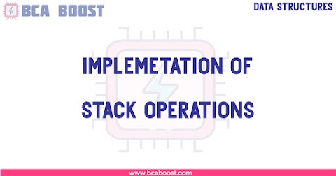 Implementation of Stack Operations