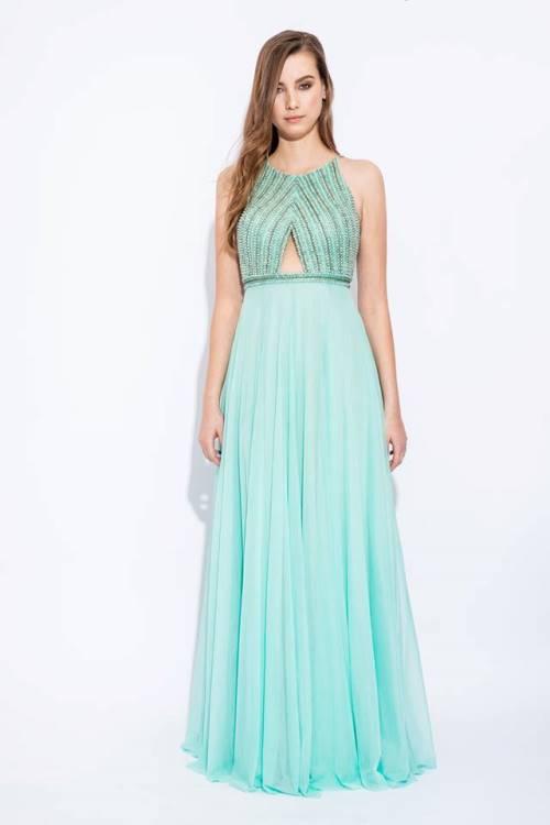 vestido de festa verde madrinha dia