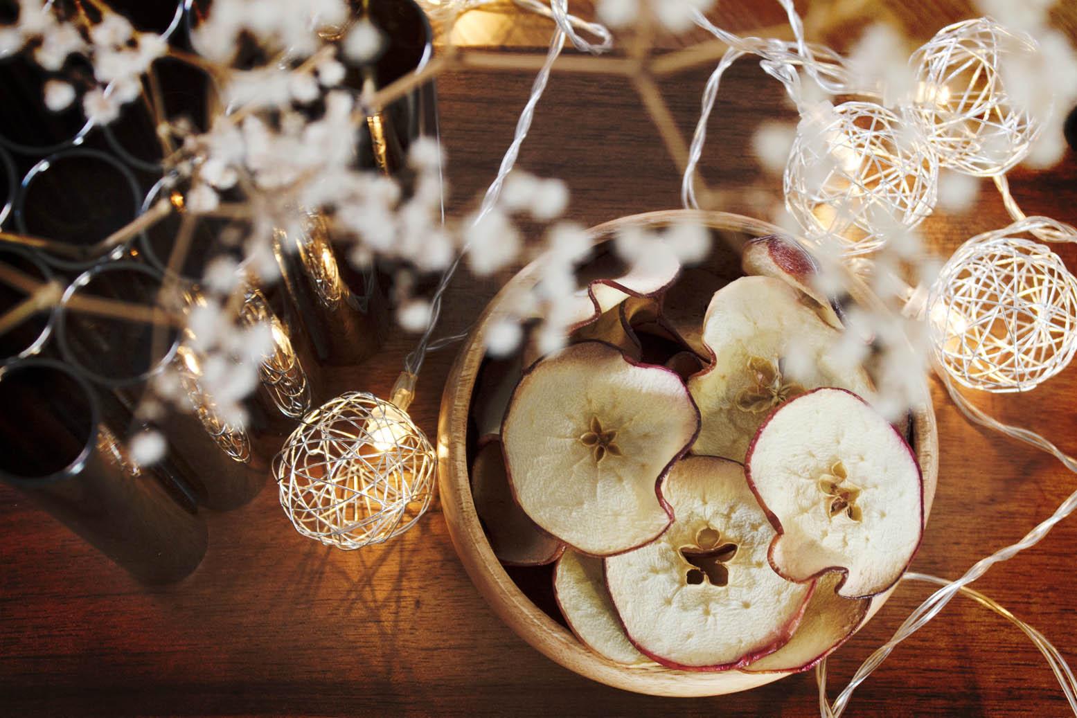snack de maçã