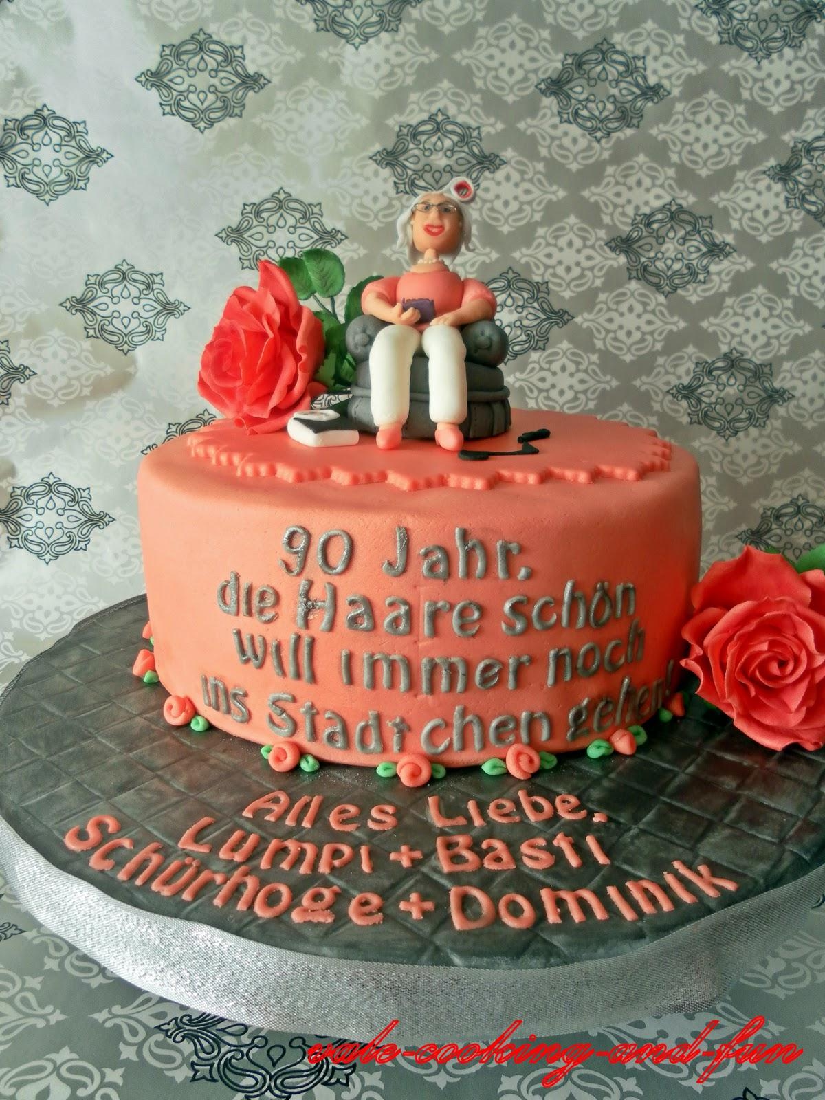 besten Cooking Torte zum 90 Geburtstag   90