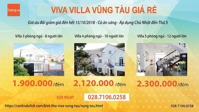 Khuyến mãi lớn tại biệt thự Viva Vũng Tàu