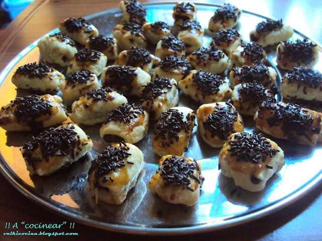 Mini napolitanas de chocolate