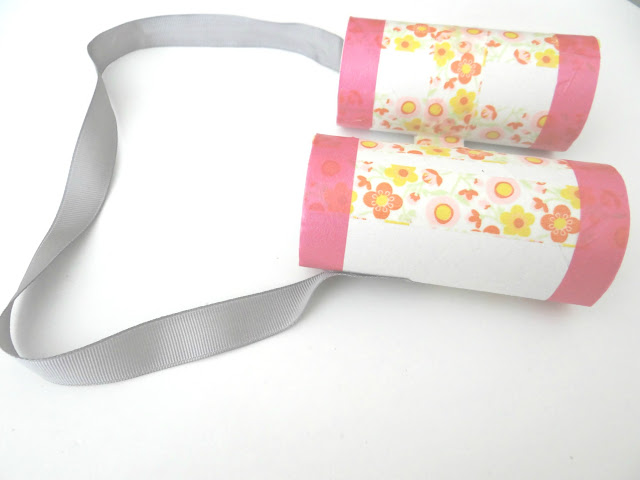 Prismáticos con rollos de papel higiénico
