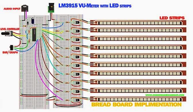 LM3915 VU meter with LED Strips PART-2   Chandra Shekhar Sati