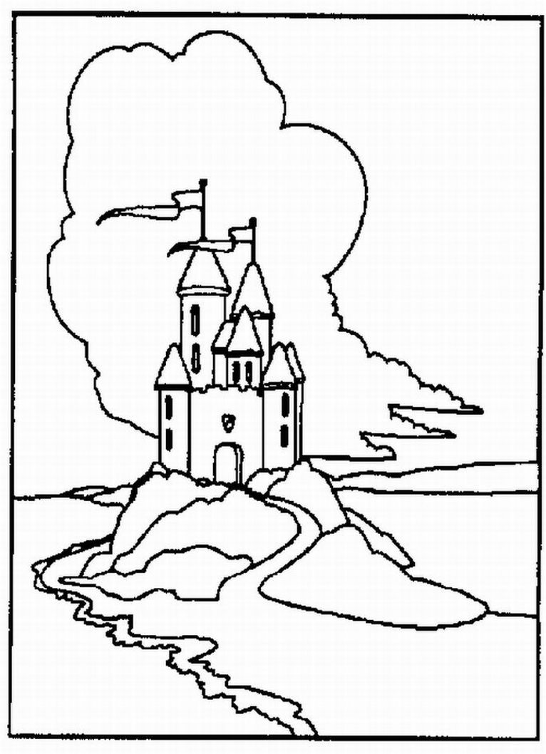 Castles Coloring Pages Learn