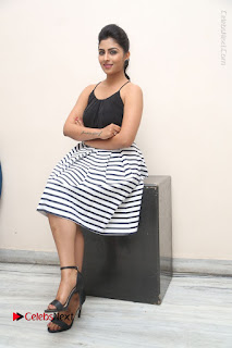 Telugu Actress Kruthika Jayakumar Stills in Short Dress at Intlo Deyyam Nakem Bhayam Success Meet  0224.JPG