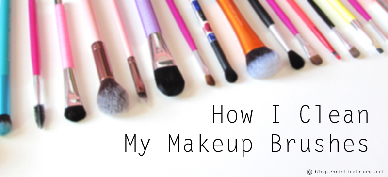 How to clean makeup brushes Home DIY