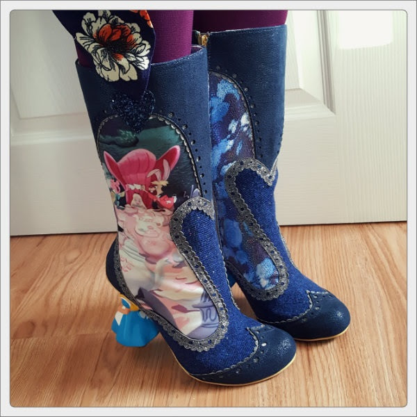 wearing irregular choice lost your muchness alice boots