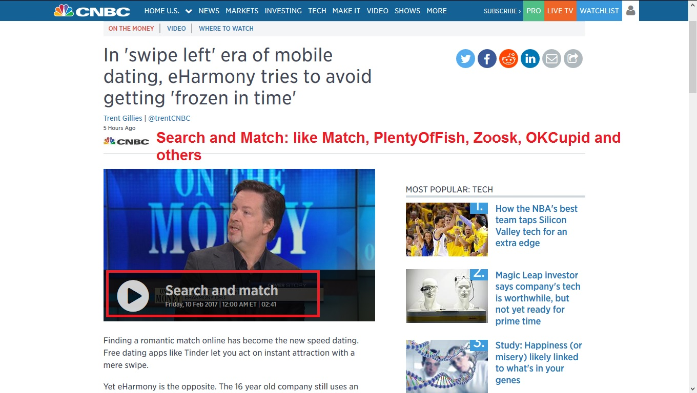 Online dating commercial eharmony