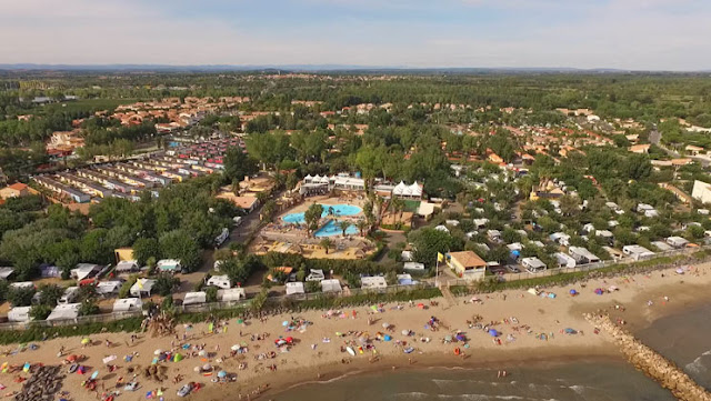 aerial view club farret camping